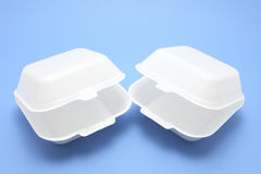 Polystyrene Food Boxes Stock Photos