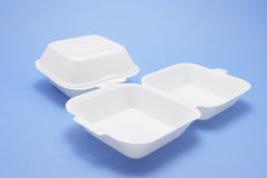 Polystyrene Food Boxes Stock Images