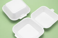 Polystyrene Food Boxes Stock Photography