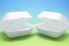 Polystyrene Food Boxes Royalty Free Stock Images