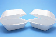 Polystyrene Food Boxes Royalty Free Stock Image