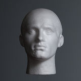 Polystyrene Head in Shadow Royalty Free Stock Photography