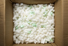 Polystyrene packing pieces Royalty Free Stock Photography