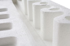 Polystyrene padding for product packaging Royalty Free Stock Photography