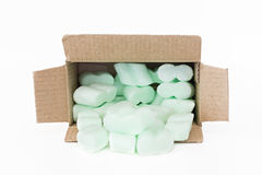 Polystyrene for protecting packaging Royalty Free Stock Images