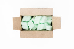 Polystyrene for protecting packaging Stock Photos
