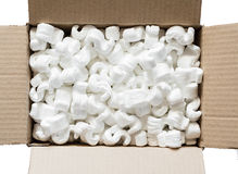 Polystyrene. For the protection of fragile packages Royalty Free Stock Photos