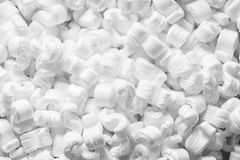 Polystyrene. For the protection of fragile packages Royalty Free Stock Photography