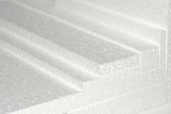 Polystyrene sheets. Some piled polystyrene sheets for damping and packaging Royalty Free Stock Photography