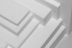 Polystyrene sheets Royalty Free Stock Photo