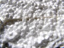 Polystyrene texture. Detail photo texture of the polystyrene background Stock Photography