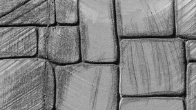 Polystyrene Wall. Polystyrene fortress wall details in black and white color royalty free stock images