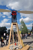 Polytech Festival in Gorky park, Moscow. Wings training apparatus. MOSCOW - MAY 25, 2017: Wings training apparatus at Polytech Festival in Gorky park, Moscow Royalty Free Stock Images