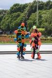 Polytechfestival in het park van Gorky, Moskou De actoren stellen voor foto's Royalty-vrije Stock Afbeelding
