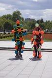 Polytechfestival in het park van Gorky, Moskou De actoren stellen voor foto's Royalty-vrije Stock Foto's