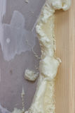 Polyurethane foam around the door frame 2 Royalty Free Stock Photos