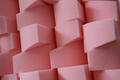 Polyurethane cutted into regular pieces Stock Image
