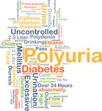 Polyuria background concept Stock Photography