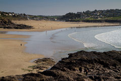 Polzeath beach in Cornwall Royalty Free Stock Image