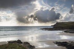 Polzeath beach in cornwall england Stock Images