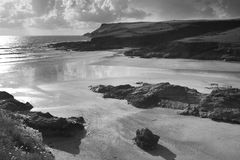 Polzeath beach in cornwall england Royalty Free Stock Photography