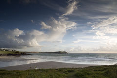 Polzeath beach in cornwall england Stock Photos