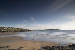 Polzeath beach in cornwall england Royalty Free Stock Photo
