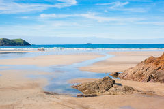 Polzeath Beach Cornwall Royalty Free Stock Photo
