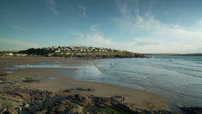 Polzeath beach in england Royalty Free Stock Photo