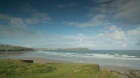 Polzeath beach in england Stock Photography