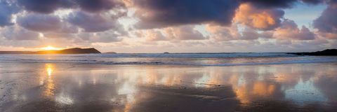 Polzeath Cornwall England Royalty Free Stock Images