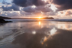 Polzeath Cornwall England Stock Photo