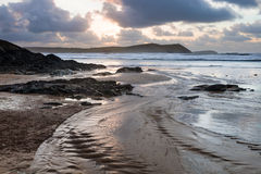 Polzeath Cornwall England Stock Photos