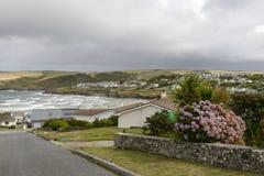 Polzeath and its bay, Cornwall Stock Photos