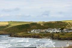 Polzeath and its beach, Cornwall Stock Photo