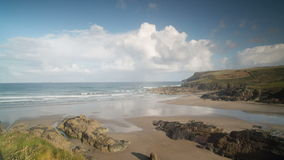 Polzeath plaża w England timelapse zdjęcie wideo