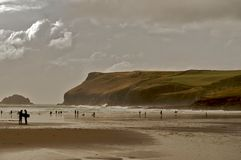 Polzeath 11. Polzeath a small seaside village located in Cornwall uk Royalty Free Stock Photos