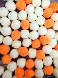 Pom-pom decorativo das bolas do algodão e do poliéster Imagem de Stock