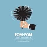 Pom-Pom Of Cheerleader royalty illustrazione gratis