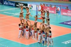 Pom Pom cheerleading Royaltyfri Bild