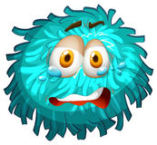 Pom-pom with crying face Stock Images