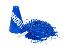 Pom Pom and Megaphone Royalty Free Stock Photo