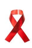 POMAGA świadomości czerwieni faborek Zdjęcie Stock
