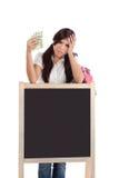 pomaga kosztu edukaci pieniężnego pożyczkowego ucznia Fotografia Royalty Free