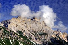 Free Pomagagnon Mountain In Autumn - In North Of Cortina D Ampezzo Royalty Free Stock Image - 129865046
