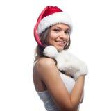 pomagier s Santa Fotografia Royalty Free