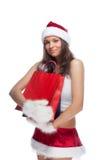 pomagier s Santa Zdjęcia Royalty Free