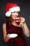 pomagier Santa Fotografia Royalty Free
