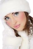 pomagiera Santa płatek śniegu Obrazy Royalty Free