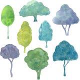 pomalowany drzewa royalty ilustracja